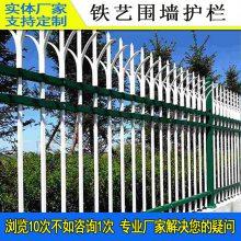 热镀锌围墙栅栏可带施工 肇庆市政工程隔离铁艺围栏 中山河道防护栏杆