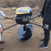 小型家用手提式挖坑机 启航手推式挖坑机 铲车电线杆钻孔机