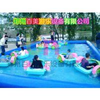 儿童水上电瓶船,水上手划船,充气水池可靠专业定做厂家