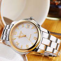 鑫柏琴厂家直销logo定制石英新款高档防水休闲 不锈钢手表外贸手表