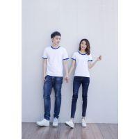 2018文化衫 精梳棉 圆领短袖 亲子装 情侣装 广告衫 体恤衫 纯色T恤 胚衫