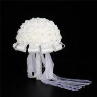 婚庆用品手捧花 新娘仿真材料韩式伴娘结婚手捧花束 外贸批发厂家