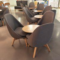 盐城快餐桌椅,满记甜品餐桌椅卡座沙发可定制北欧风奶茶西餐厅实木桌椅组合