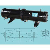 板桥制冷公司厂价直销10匹双回路壳管式冷凝器