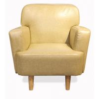 倍斯特定制简约现代风格咖啡餐厅沙发休闲会所奶茶实木单人沙发