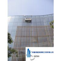 出售出租电动吊篮//更换弧形电梯玻璃