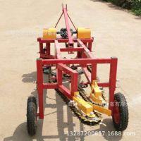 四轮拖拉机带动土豆收获机药材专用挖掘机
