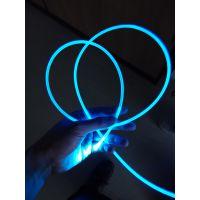广告机导光条.3.5mm半透乳白光纤,外壳七彩发光