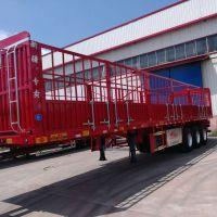 风火轮超轻型仓栅式半挂车13米2.55米3350 自重最轻 包拉60吨 平板式牵引挂车