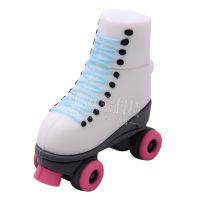 创意PVC溜冰鞋迷你特色u盘创意迷你u盘特色开模定制卡通鞋子u盘
