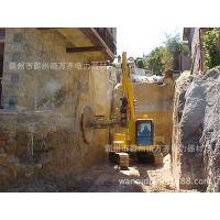 施工照片 圆盘锯沟锯 大型 沃尔沃 北京 岩石锯