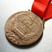 金属奖牌定制 烤漆勋章制作 马拉松奖牌加印logo