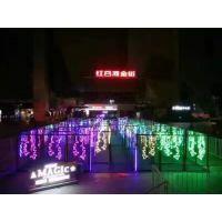 景区灯光节布置,发光玫瑰花海出租,LED玫瑰灯出租布置彩灯光雕