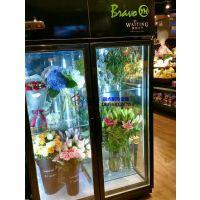 丽水把手门鲜花柜定做厂家,保鲜保湿鲜花店展示柜,徽点冷柜全国联保
