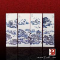 景德镇陶瓷山水花卉瓷板画 装饰画