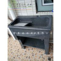 博豪石业品牌花岗岩一体化洗衣池,光滑,耐用,不漏水、不易破损