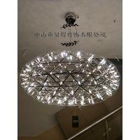 西班牙Moooi Raimond火花圆球吊灯不锈钢满天星个性吊灯酒店工程吊灯