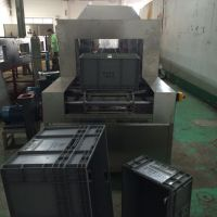 精密件周转箱胶框清洗机,佳和达专业制作自动胶框喷淋除油污清洗烘干设备