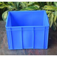 厂家直销 佛山乔丰塑胶周转箱蓝色加厚PE胶箱54*42*37