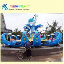 广东客户安装的激战鲨鱼岛水上游乐设备夏季生意超好游乐设备