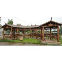 防腐木实木碳化长廊 阳光房 木屋凉亭木顶大型葡萄架花园花藤架