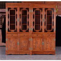 红木书柜直销-古典中式花梨木书柜-如金红木家具