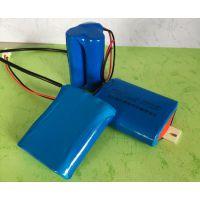 迪生18650锂电池组3串2100mah、18650锂电池组消防应急照明灯具备用电池