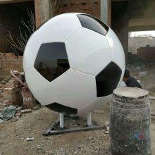 巨型玻璃钢彩绘足球模型不锈钢仿真足球雕塑树脂大型足球道具体育馆广场装饰摆件