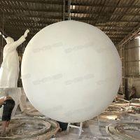 玻璃钢磨砂圆球雕塑树脂纤维石头漆球体商场美陈摆件雕塑定制