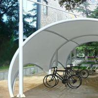 步行街自行车遮阳棚 张拉膜景观棚遮阳棚PVDF户外景观膜结构