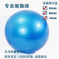 五月荷PVC加厚防爆健身球 孕妇无味专业瑜伽球生产厂家批发定制一件代发