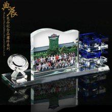 训练营第一期合影纪念 上海总裁班周年聚会礼品 水晶相册办公摆件