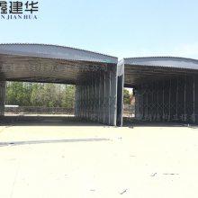 上海市黄浦区鑫建华定做手动推拉雨棚布、仓储活动篷、加固型推拉蓬、移动雨棚、上海可测量安装