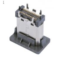 TYPE C 直立式SMT贴片母座 24P 3.1USB连接器 180度贴板 带防尘盖