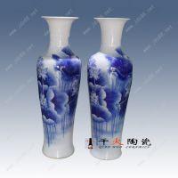 景德镇手绘高档礼品陶瓷大花瓶生产厂家 千火陶瓷