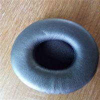 辉晟厂家直销热压成型网吧耳机PU皮耳套 PU光面皮耳套