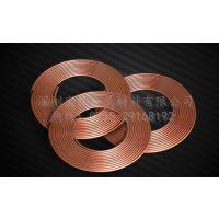 精密毛细紫铜管,TP2紫铜盘管规格,日本进口制冷盘管