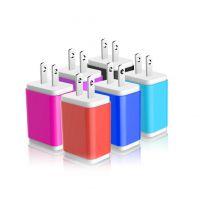 创盈达电子直供优质双USB旅行充电器,通用手机电源充电头