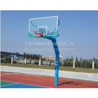户外运动固定式地埋篮球架标准篮球架成人 室外钢化玻璃篮板批发康腾体育