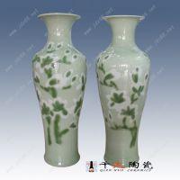 客厅摆放大花瓶图片 青花瓷器大花瓶