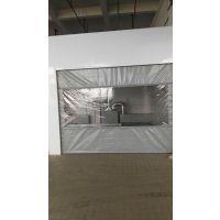 供应广州军瑞PVC软帘 修理厂工位隔断 商场门帘 50mm厚 布帘