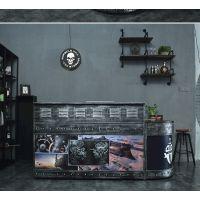 重庆凯隆酒吧复古收银台 吧台 咖啡厅前台 酒柜 美式复古