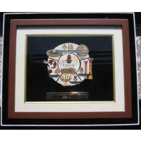 礼品相框批发 收藏/礼品纪念币 放徽章用 立体木制相框 实木 可加LOGO