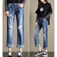 中山便宜女装潮流牛仔裤批发 时尚百搭库存杂款牛仔大量批发