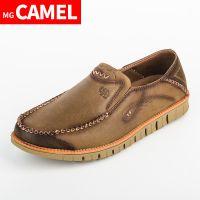 供应福建骆驼伙伴鞋服MG CAMEL男鞋春季新款真皮圆头低帮系带青年潮流英伦时尚休闲皮鞋