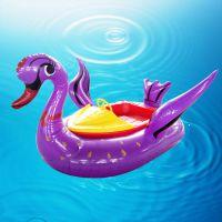 充气碰碰船儿童水上玩具 电动碰碰船批发 户外动物版带遥控电动船
