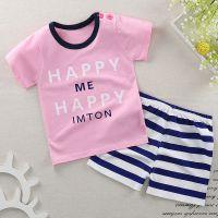 儿童新款短袖T恤套装可爱卡通宝宝套装夏季男童女童婴儿一件代发