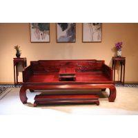 东阳和谐红木供应 红酸枝/巴里黄檀 古典中式罗汉床