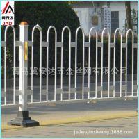 青岛道路护栏实心圆钢道路防护栏 市政交通隔离栏 钢筋U型防撞围栏 京式护栏