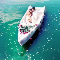 古舟木船GZ-OS-088欧式木船 婚纱摄影景观装饰船 水上观光手划船